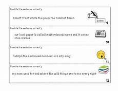 Punctuation Of Titles Punctuation Of Titles Sentence Strips By Ra Ra S Designs