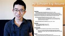 How A Resume Looks Like What My Software Engineer Resume Looks Like Youtube