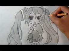 desenho anime quot passo a passo quot como desenhar chibi miku