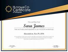 Sample Certificate Of Participation 3 Free Certificates Of Participation Templates Hloom