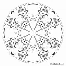 sonnenblumen mandala 187 gratis ausdrucken ausmalen