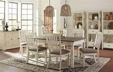 bolanburg white and gray rectangular dining room set d647