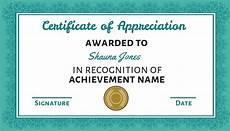 Text For Certificate Of Recognition 100 Certificate Of Appreciation Templates To Choose From