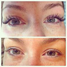 before and after individual eyelash extensions silk