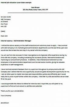 Cover Letter Example For Relocation Internal Job Relocation Letter Job Cover Letter Cover