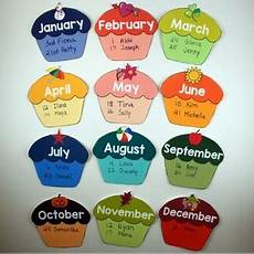 School Birthday Calendar Free Birthday Cupcake Calendar Back To School Decor