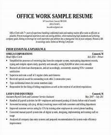Office Machines List Resume 20 Printable Work Resume Templates Pdf Doc Free