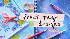 Good Front Page Design Front Page Design For Project Diy Notebook Decoration