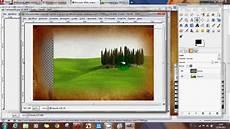 creare cornice photoshop bordo sfumato con un immagine tutorial gimp
