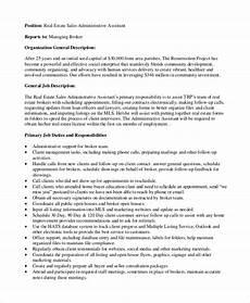 Admin Assistant Job Description Sample Free 9 Sample Administrative Assistant Job Descriptions