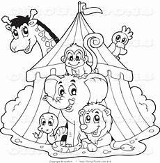 royalty free stock circus designs of giraffes