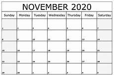 November 2020 Calendar Printable Free November 2020 Calendar Printable Template September