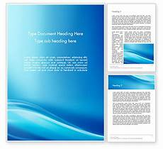 Word Background Templates Blue Wave Background Word Template 11868 Poweredtemplate Com