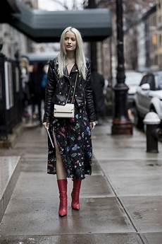 mulher estilo outono como usar vestido floral bota imagens estilo