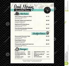 Menu Layout Restaurant Breakfast Menu Design Template Layout Stock