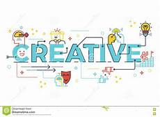 Word For Creative Creative Word Lettering Typography Design Stock Vector