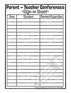 Parent Conference Sign In Sheet Parent Teacher Conferences Sign In Sheet By