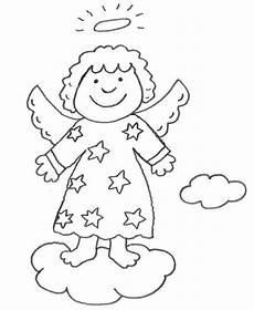 Gratis Malvorlagen Weihnachten Quiz Kostenlose Malvorlage Weihnachten Engel Auf Einer Wolke