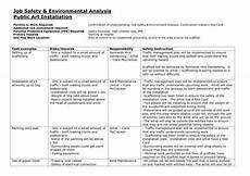 Job Safety Analysis Examples Job Safety Analysis
