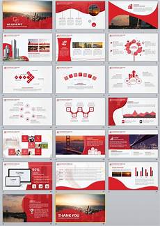 Red Powerpoint 20 Red Business Report Powerpoint Templates Powerpoint