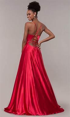 yellow faviana corset prom dress promgirl