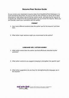 Note Taker Resume Resume Peer Review Worksheet