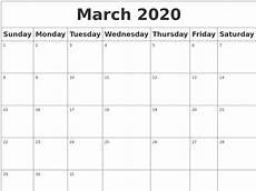 March 2020 Calendar Printable March 2020 Blank Calendar
