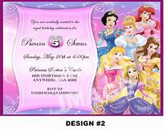 Disney Party Invitations Disney Princess Birthday Invitation Rapunzel Tangled Belle