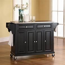cherry kitchen island cart crosley furniture stainless steel top kitchen cart or