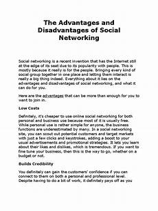 Essay About Social Media The Advantages And Disadvantages Of Social Networking