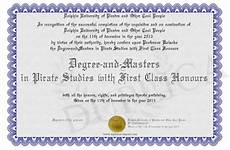 First Class Honors Degree And Masters In Pirate Studies With First Class Honours