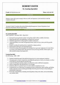 Leasing Specialist Resume Leasing Specialist Resume Samples Qwikresume