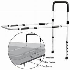 secure 174 adjustable bed rail w floor support secure