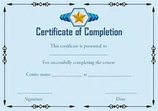Certificate Of Successful Completion Certificate Of Successful Completion Template