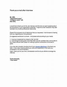 Thank You Letter After Job Fair 40 Thank You Email After Interview Templates Template Lab