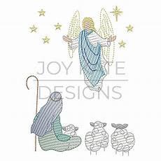 Christmas Angel Designs Christmas Angel And Shepherd Sketch Embroidery Design
