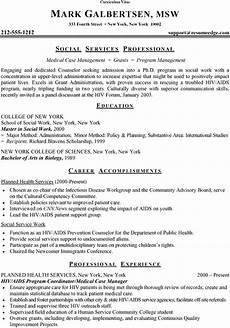 A Cv Example How To Write A Curriculum Vitae Cv Format Samples