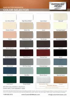 Wrisco Aluminum Color Chart Colors Available In Pre Painted Aluminum Gutter And