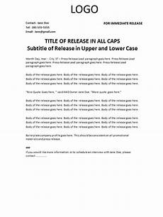 Format For Press Release Press Release Template Coppelljournalism
