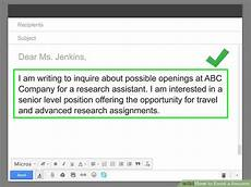 Resume Email How To Email A Resume With Pictures Wikihow