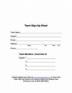 Team Sign Up Sheet 11 Printable Free Sign Up Sheet Forms And Templates