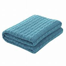 knitted throw blanket for sofa soft 100 cotton