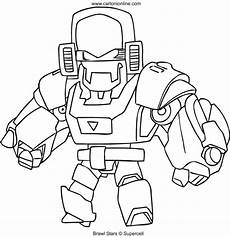 mecha bo from brawl coloring page