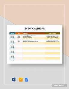 Calendar Of Events Template Word 25 Event Calendar Templates Free Samples Examples