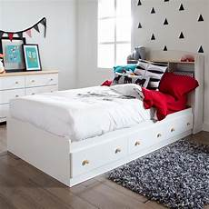 storage bed white 3 drawer size shaker style