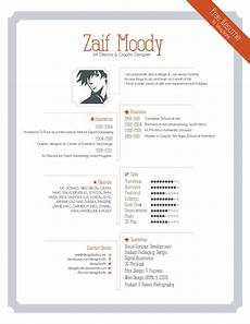 Create Cv For Free Free Resume Template For Graphic Designers Illustrator