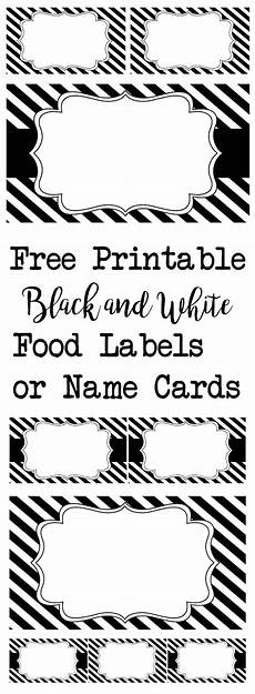 Christmas Labels Black And White Black And White Food Labels Or Name Cards Paper Trail Design