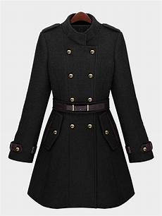 belts for trench coats black breasted belt trench coat us 65 95 yoins