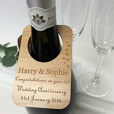 Wedding Bottle Label Personalised Wedding Anniversary Wine Bottle Label By