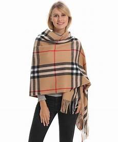 classic plaid blanket scarf feeling cozy warm